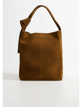 Sac Shopper Daim by Mango