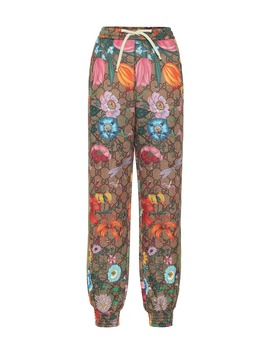 Gg Flora Technical Jersey Trackpants by Gucci