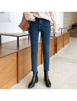 Mimi&Didi   Fleece Lined Slim Fit Jeans by Mimi&Didi