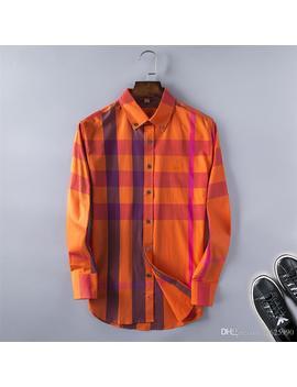 2019 Brand Men's Business Casual Shirt Mens Long Sleeve Striped Slim Fit Camisa Masculina Social Male Shirts New Fashion Designer Shirt @09 by D Hgate.Com