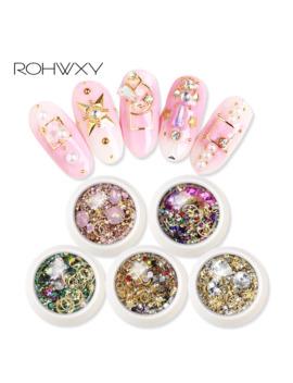 Rowhxy 1 Box Nail Art Decorations Colorful Rhinestones Nail Shell For 3 D Nail Art Design Diamonds Nail Art Alloy For Manicure by Ali Express.Com