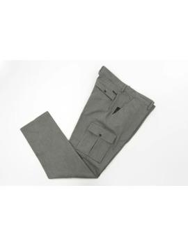 Hamaki Ho Men's Gray Twill Cargo Pants, Eu 54, Usa 44 by Hamaki Ho  ×