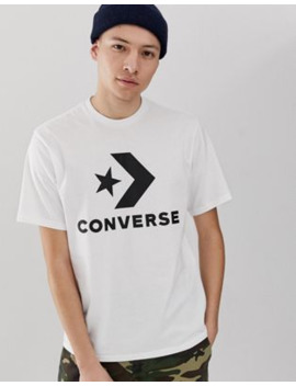 Converse Large Logo T Shirt White by Converse