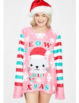 Feline Jolly Holiday Sweater by Dolls Kill