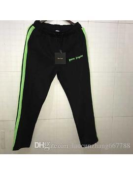 New Palm Angels Pants Women Men High Quality Joggers Hip Hop Streetwear Rainbow Exclusive Fluorescent Color Drawstring Sweatpants Trousers by D Hgate.Com
