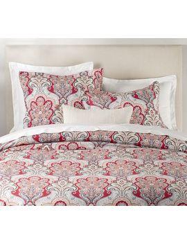 Jordana Paisley Percale Duvet Cover & Shams   Red Multi by Pottery Barn