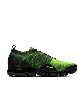 """Nike Air Vapor Max Flyknit 2 """"Volt/Black"""" Men's Running Shoe Nike Air Vapor Max Flyknit 2 """"Volt/Black"""" Men's Running Shoe by Hibbett"""