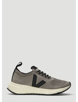 Thunderbird Mesh Knit Sneakers In Grey by Rick Owens X Veja
