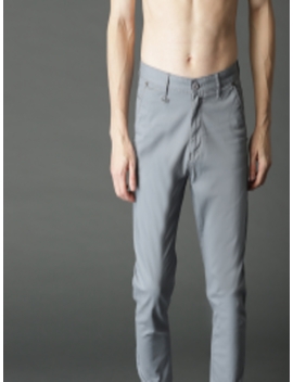 Men Grey Regular Fit Solid Joggers by Roadster