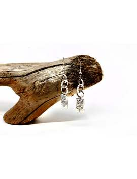 Wolf Dangle Earrings   Sterling Silver Drop Earrings  Vv Ilk by Etsy
