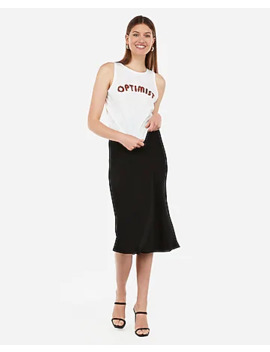 Optimist Graphic Crew Neck Tank by Express