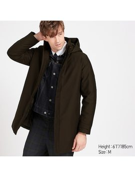 Men Hybrid Down Coat (15) by Uniqlo