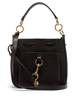Tony Medium Leather Bucket Bag by See By Chloé