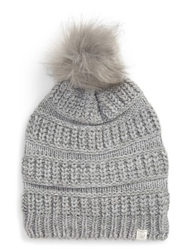 Faux Fur Pom Beanie by Treasure & Bond