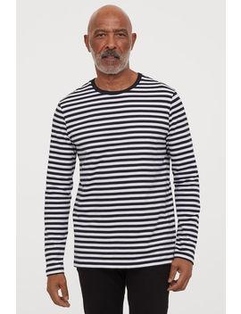 T Shirt Rayé à Manches Longues by H&M