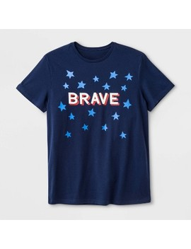 "Men's ""Brave"" Americana T Shirt   Navy by Shop This Collection"