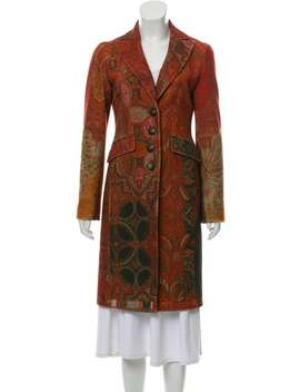 Patterned Long Coat by Etro