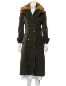 Fox Fur Trimmed Virgin Wool Coat by Dolce & Gabbana