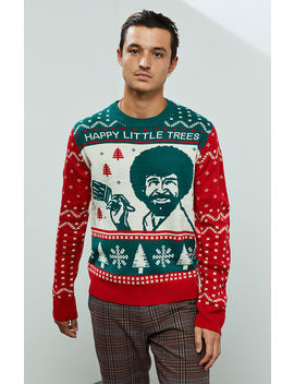 Bob Ross Christmas Sweater by Pacsun
