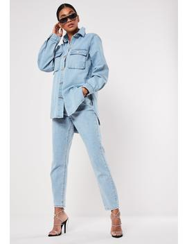 Blue Riot Utility Mom Jeans by Missguided