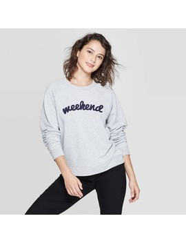 Women's Weekend Long Sleeve Sweatshirt   Grayson Threads (Juniors')   Athletic Heather by Grayson Threads