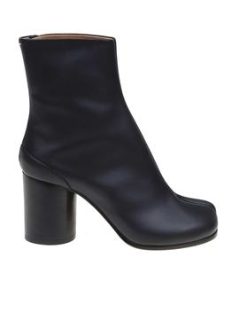 Maison Margiela Tabi Ankle Boots In Black Leather by Maison Margiela