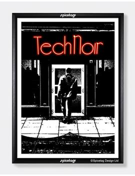 Tech Noir Poster Print 80s Retro Robot Movie Sci Fi Robot Film Cyborg Picture by Etsy