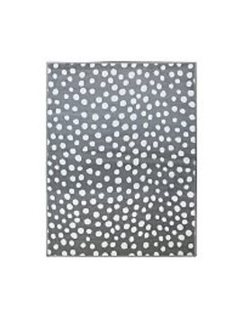 Grey Polka Dot Rug by Asda