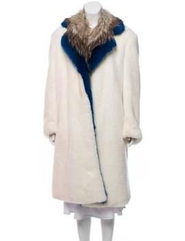 Long Faux Fur Coat by Dries Van Noten