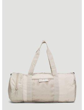 Round Duffle Bag In Beige by Adidas By Stella Mccartney