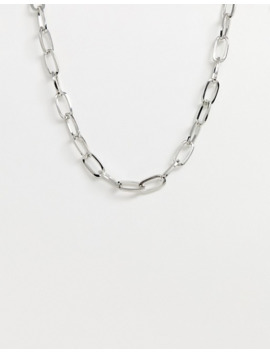 Design B Industrial Style Neck Chain In Silver by Design B