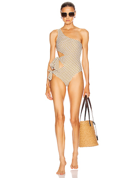 Chain Print Cutout Swimsuit by Jonathan Simkhai