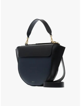 Black And Navy Hortensia Large Leather Shoulder Bag by Wandler
