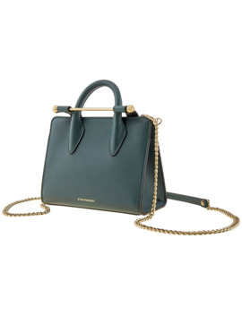 Ladies Nano Tote In Green by Strathberry