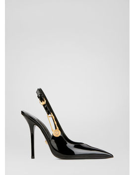 Safety Pin Patent Pumps by Versace