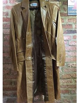 Prophecy Ladies Camel Brown Distressed Leather Coat Size S   Uk 10 12   No Tags by Prophecy