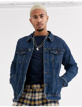 Pull&Bear Denim Jacket In Mid Wash Blue by Pull&Bear