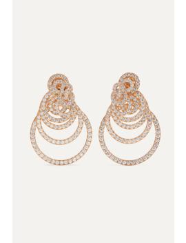 Gypsy 18 Karat Rose Gold Diamond Earrings by De Grisogono