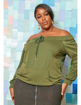 Asoph Plus Size Off Shoulder Womens Sweater Jumper by Asoph