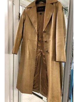 Andrew Marc Women's Leather Trench Coat Camel Sz Xs by Andrew Marc