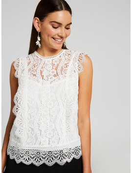 Lana Lace Shell Top by Portmans