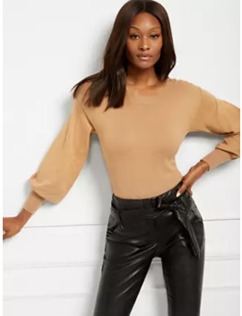 Studded Puff Sleeve Sweater by New York & Company