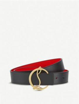 W Cl Logo Belt 35 Calf Paris/Metal by Christian Louboutin