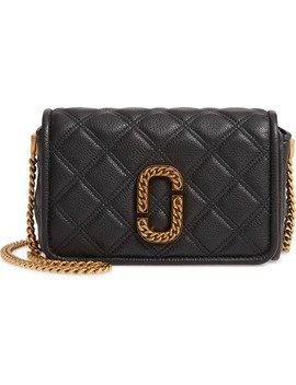 Naomi Quilted Leather Crossbody Bag by The Marc Jacobs