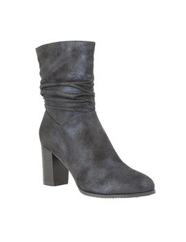 Rising Heeled Mid Calf Boots by Lotus Shoes