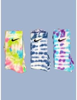 2 Pairs Nike Tie Dye Dri Fit Socks by Etsy