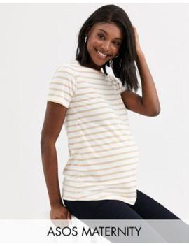 Asos Design Maternity – Gestreifter Pullover Mit Rundhalsausschnitt by Asos
