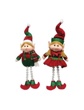 """15"""" Set Of 2 Elf Dangles, By Santa's Workshop by Santa's Workshop"""
