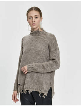 Ananya Distressed Sweater by Stelen Stelen