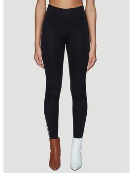 Zipped Cuff Leggings In Black by Burberry